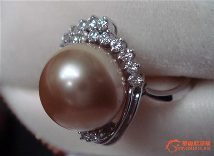 金色珍珠戒指