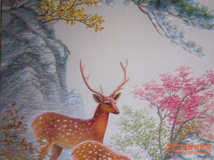 朝鲜刺绣画/梅花鹿