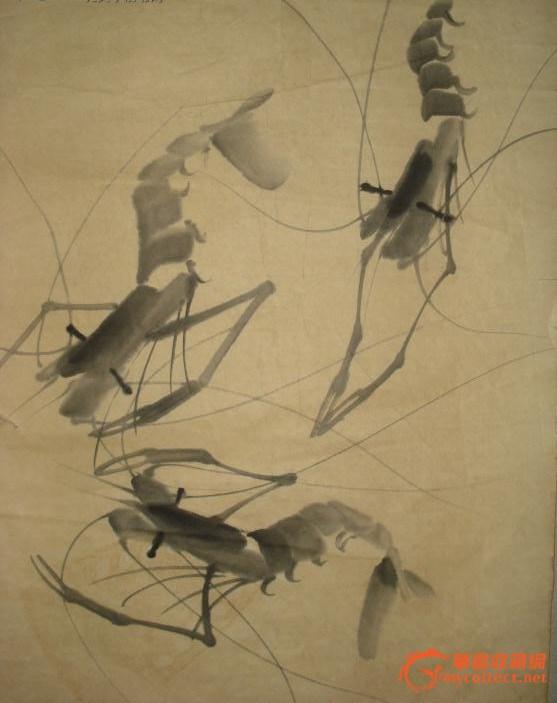 请网站专家帮忙看看这幅齐白石的虾图画工如何?值得收藏吗?