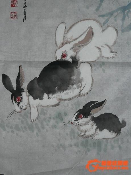 儿童国画兔子