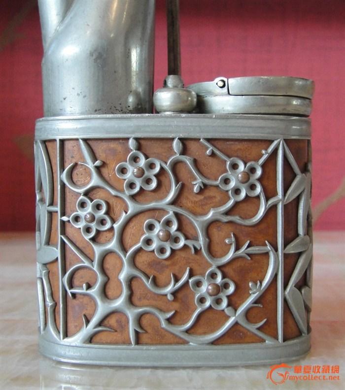 超精美白铜水烟壶,来自藏友广广刚上路-铜器-民