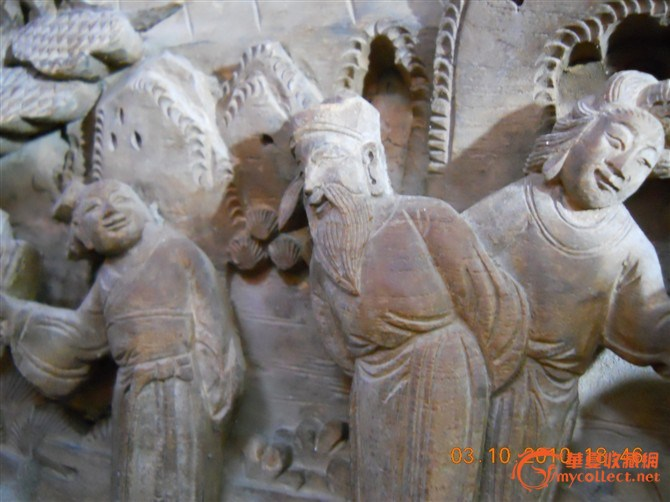 清朝早期木雕人物雕刻长方