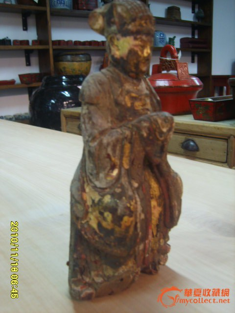 鎏金木质佛像