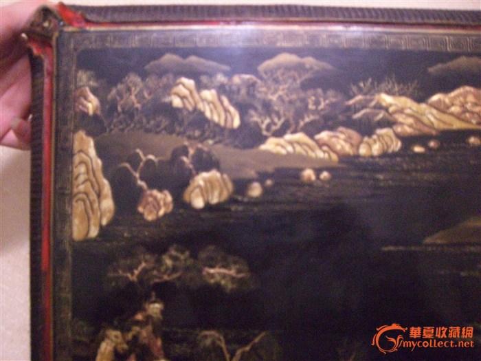 清乾隆黑漆描金漆盒_清乾隆黑漆描金漆盒鉴定铝板据图片