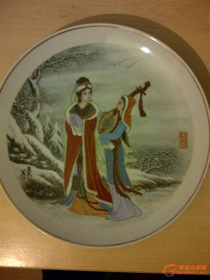 漂亮手绘瓷盘子