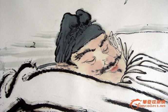 李永文人物画《李白醉酒图》