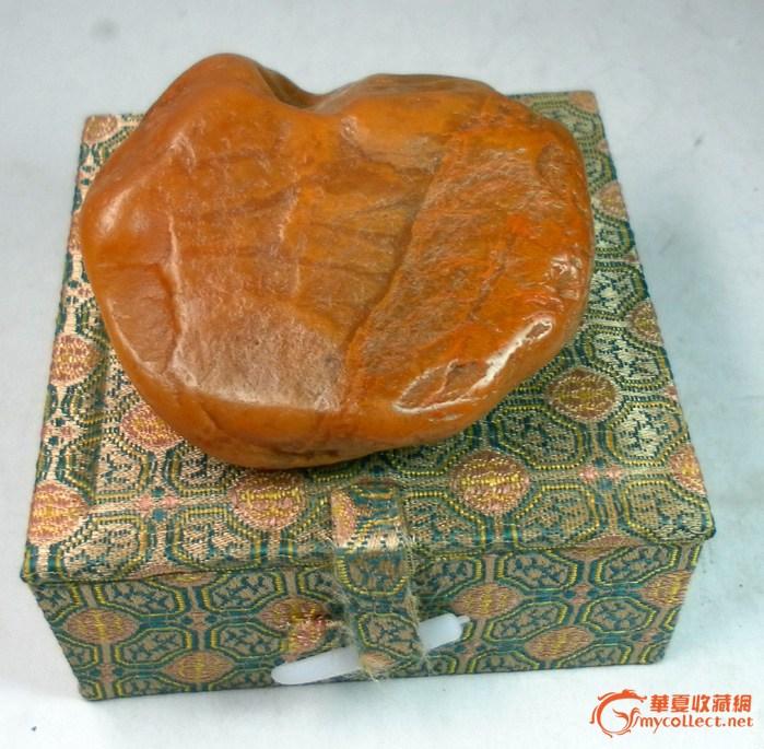 田黄原石(直径:6.7CM)--自藏欣赏
