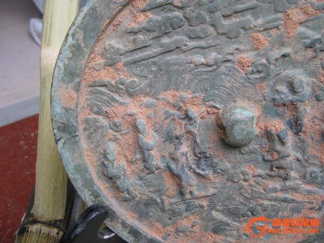 出土完整的 宋 八仙过海 图纹 青铜镜
