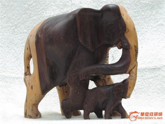 木雕大象-图1