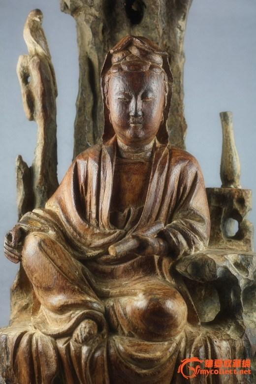 精品木雕造像书卷观音