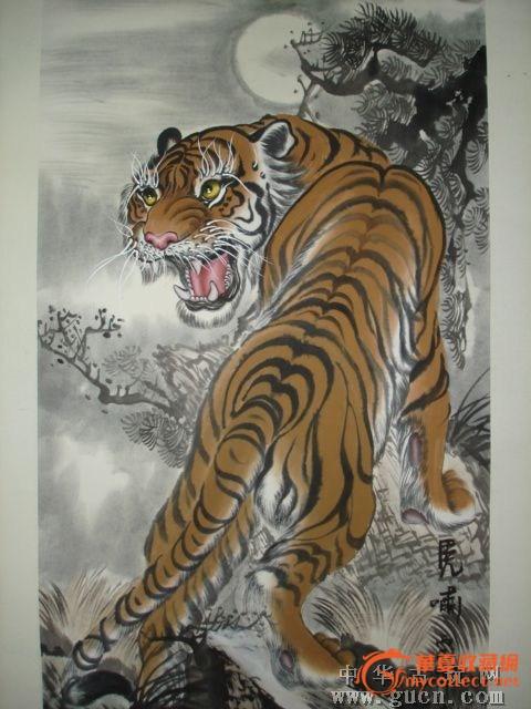 幼儿园老虎画画