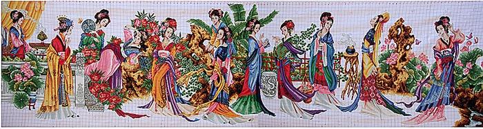 巨幅长卷十字绣 《十二金钗》