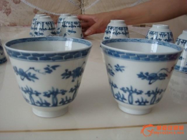 康熙青花瓷杯