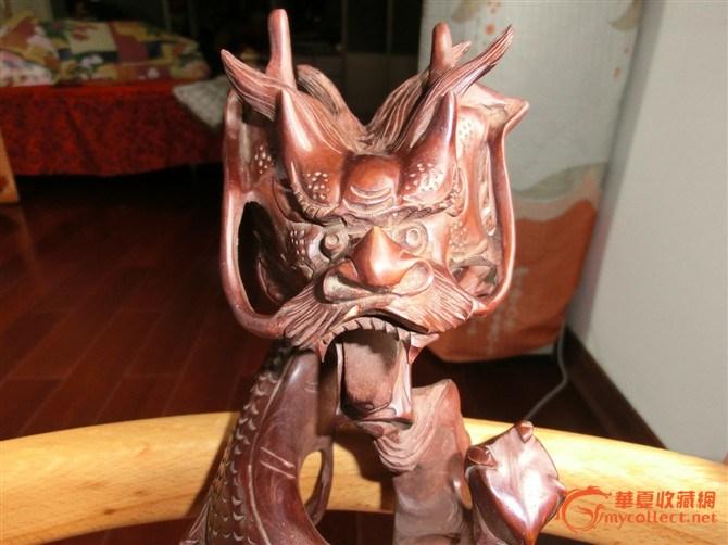 黄杨木雕刻龙形如意