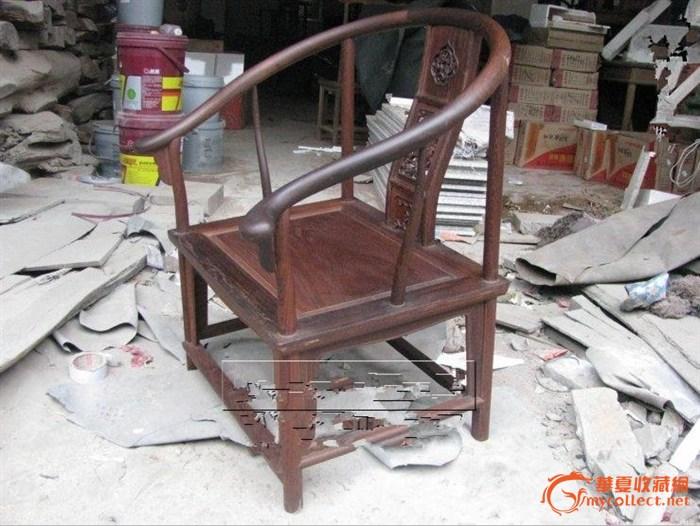麒麟/鸡翅木麒麟草龙圈椅一个