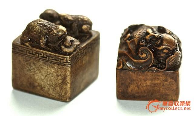 对中国稀土北宋签署了蝙蝠和青蛙玉石雕刻密封