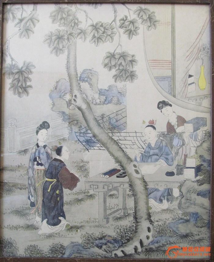 古代庭院文案人物画