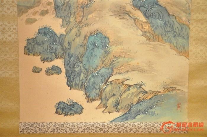 中国画大青绿山水-大青绿山水画步骤,大幅高清山水画