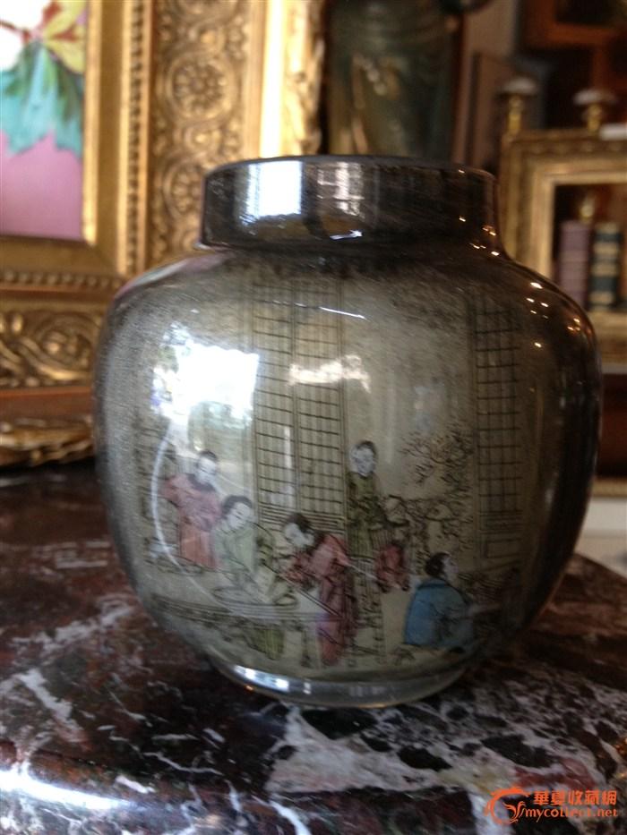 人物纹玻璃瓶-图2