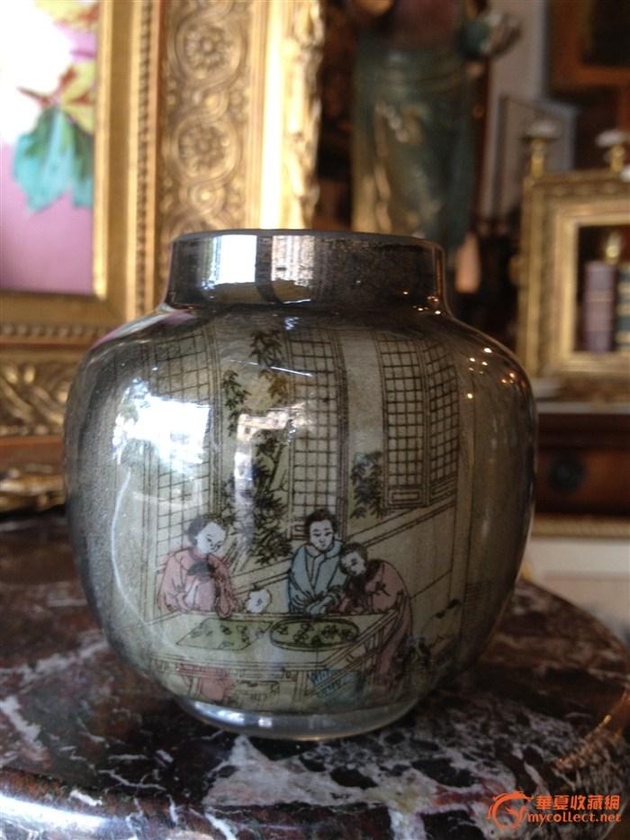 人物纹玻璃瓶-图1