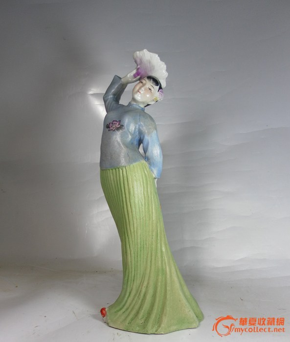 50年代末瓷塑精品:舞剧刘巧儿造像(少奇瓷,王光美开像)