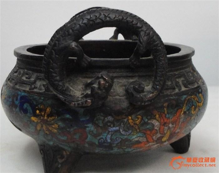 康熙款珐琅铜香炉