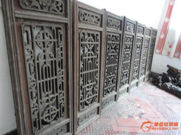 清代老木雕花窗(8)