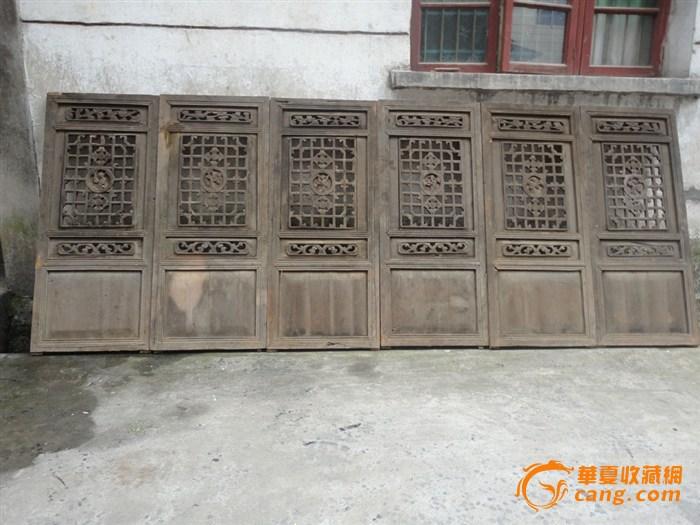 八仙戏曲人物木雕花窗
