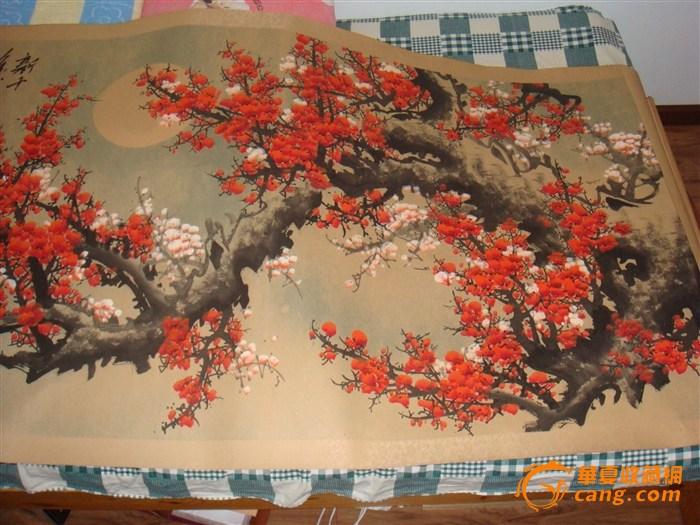 出售王成喜十四平尺巨型梅花图真品