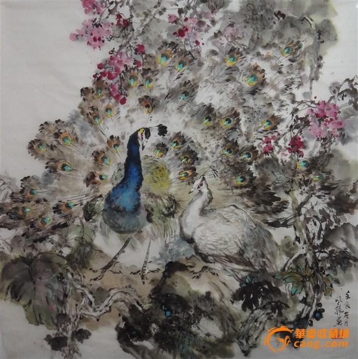 风杨中国画孔雀