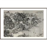 【巨幅】李宏利八尺整纸《江云帆影图》
