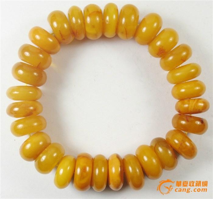 海鸡油黄蜜蜡手串 波罗的海鸡油黄蜜蜡手串鉴定 高清图片