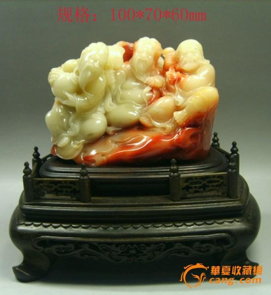 寿山老性芙蓉石摆件--三仙