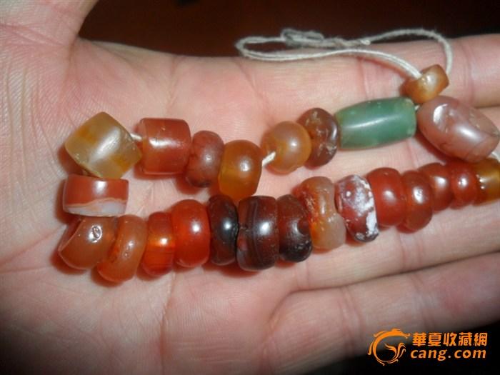 漂亮的高古玛瑙珠子