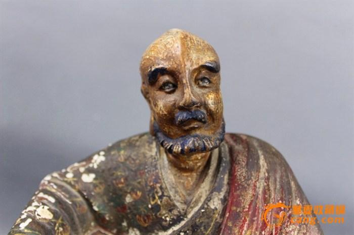 木雕彩绘罗汉像5尊