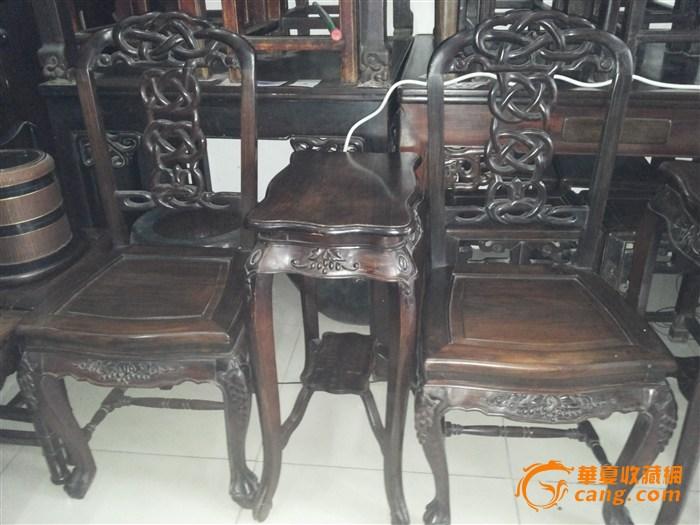 老虎脚红木椅子和茶几