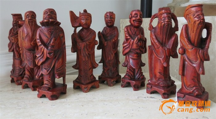 八仙过海木雕摆件