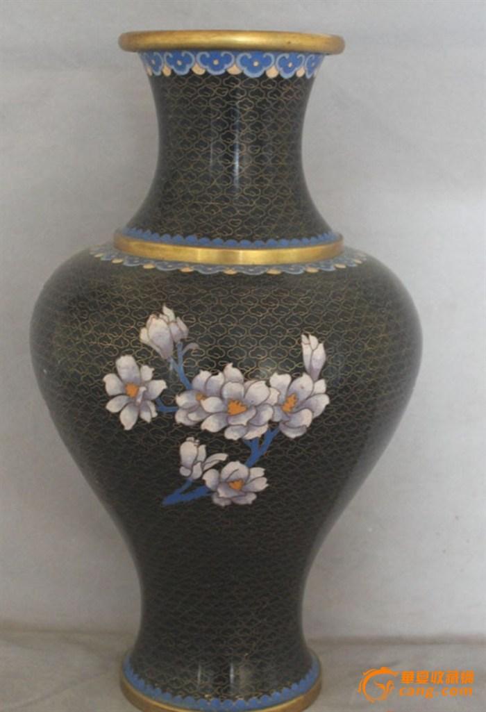 清代铜胎掐丝珐琅鎏金瓶