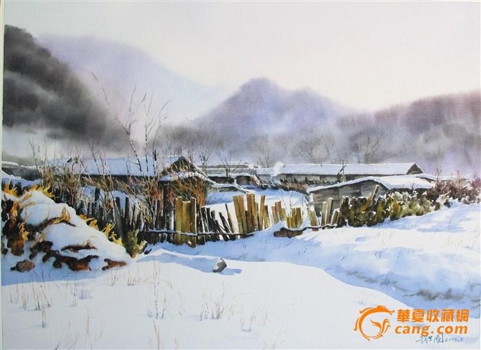 森林村庄手绘图