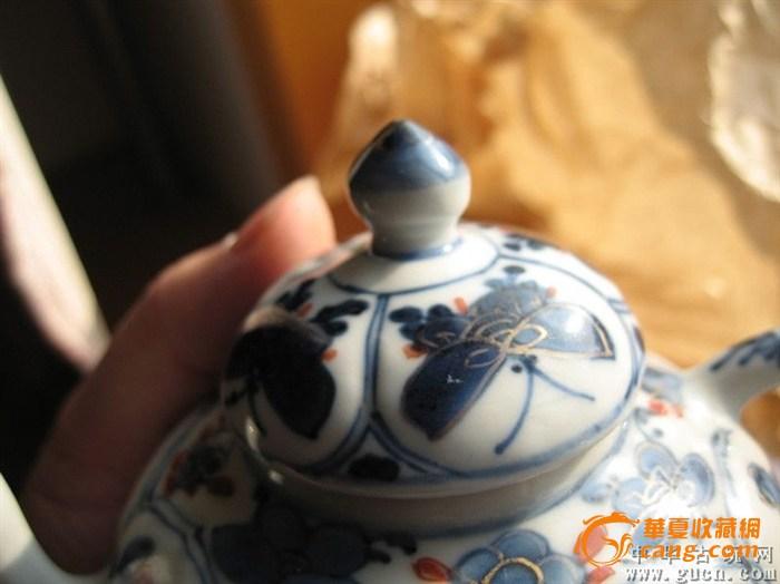 大清乾隆年制 青花茶壶图片