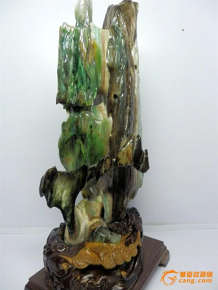 缅甸树化玉精品造型冰种绿料木化玉非木化石硅化木能比