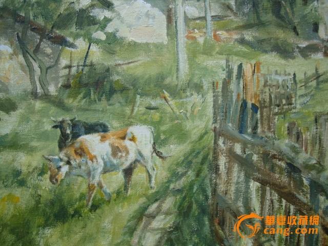 加拿大风景油画写生