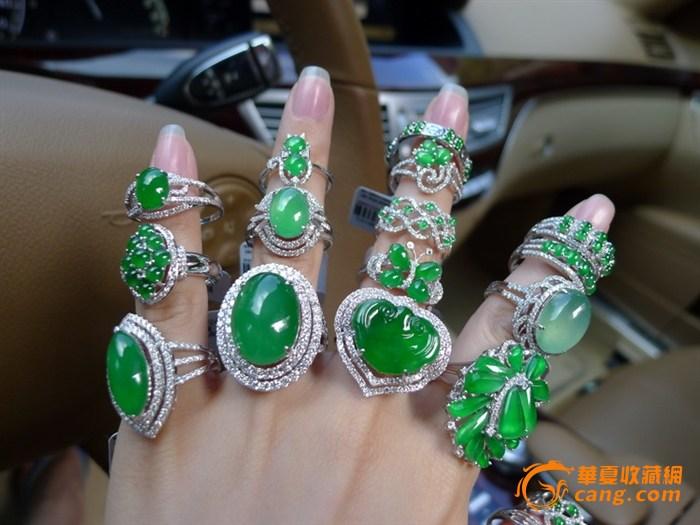 !欣赏!高货满绿戒指!