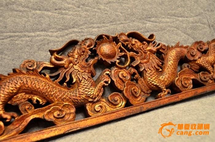 双龙夺珠老木雕花板,是清朝的吗?,来自藏友盛世力合