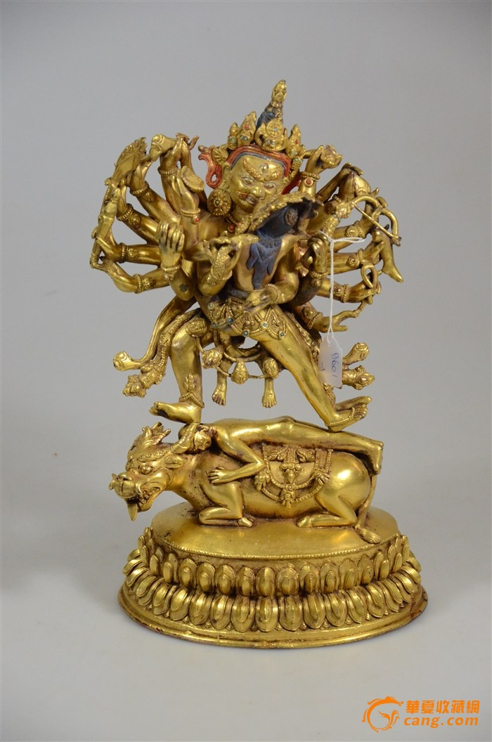 清代鎏金铜佛像