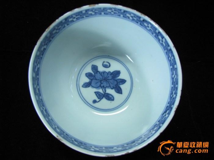 明嘉靖 青花狮纹碗