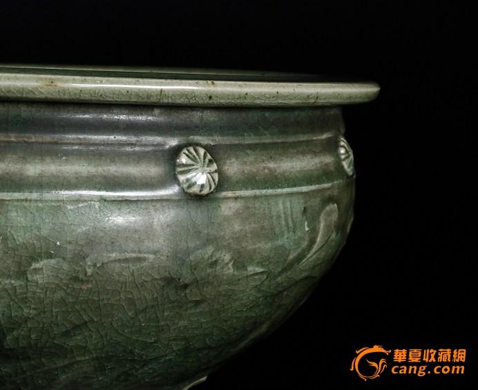 开门的明代大青釉香炉,口34厘米