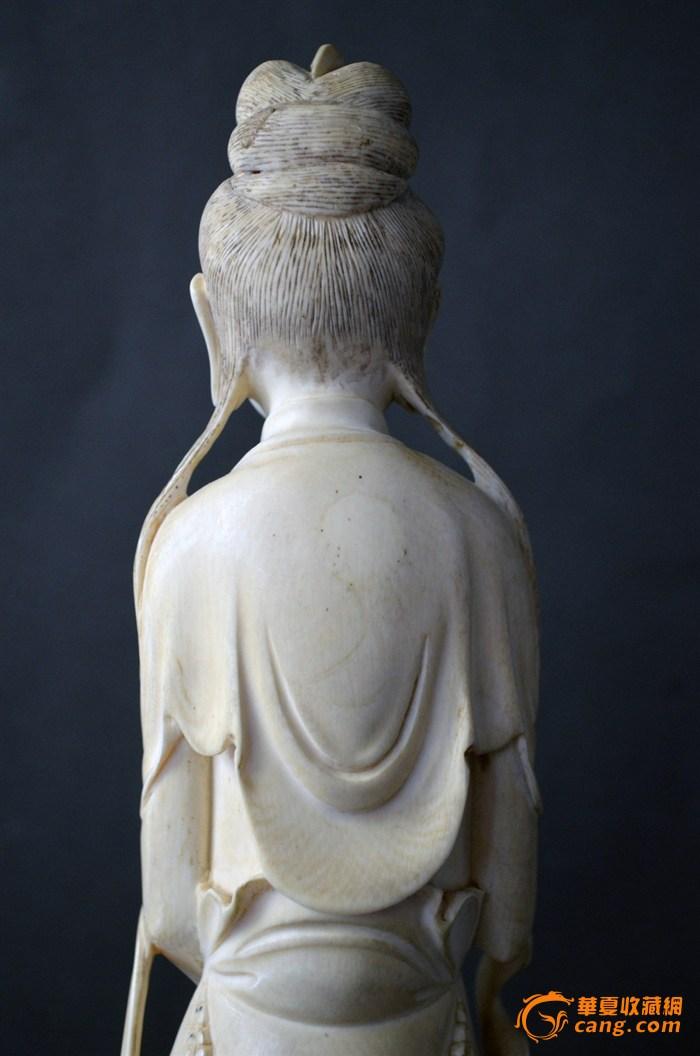 清代象牙雕观音像 图1