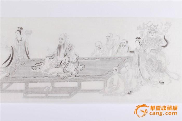 佛像花型图案铅笔手绘