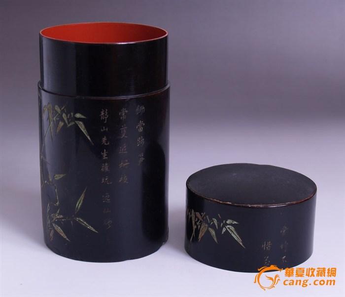 民国漆器 茶叶桶 有历史意义的小藏品
